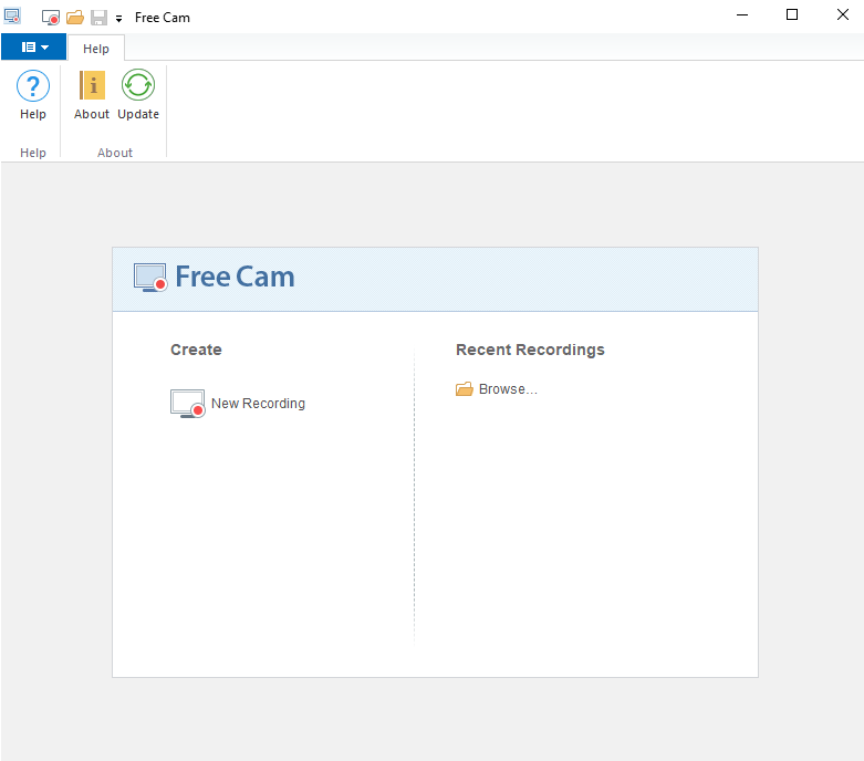 Freecam video recording Software download